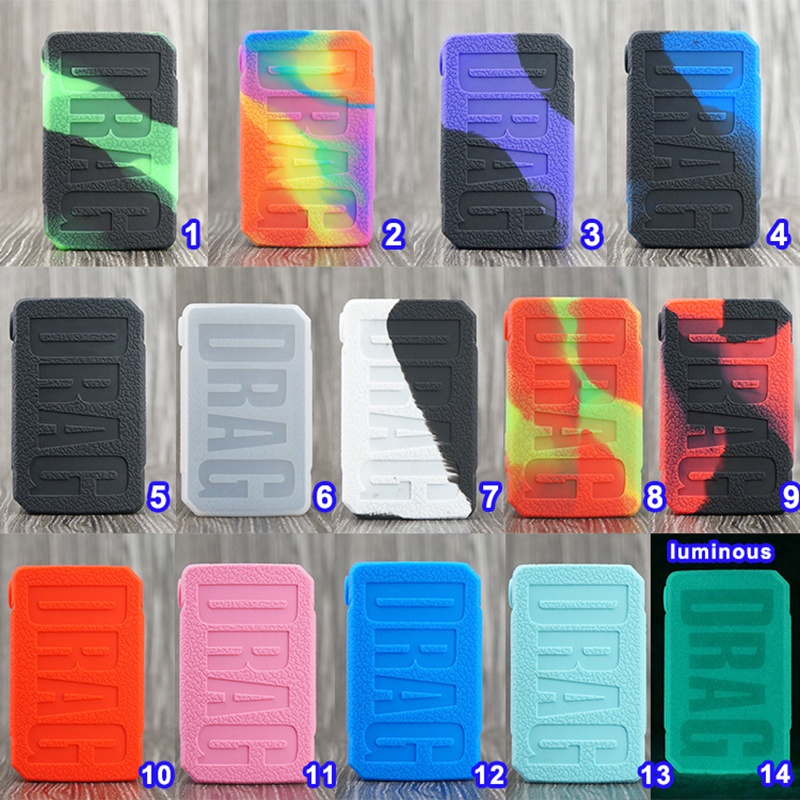 Protective Silicone Case For VOOPOO Drag Mini 117w Mod Vape Cover Rubber Skin Warp Sticker Sleeve Shell Hull Vape SKRR Tank