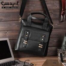 Cobbler Legend New Business Bag Brand Men Casual 100% Genuine Leather Cow Skin Black Fashion Crossbody Messenger Travel
