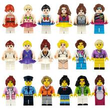 Person Series Kit Sale professional building blocks Mini Figure 3D children DIY toys boys and girls children Christmas gifts(China)