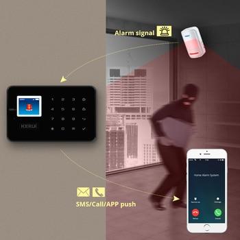 KERUI G18 GSM Alarm Systems For Home Security Systems APP Wireless  Burglar Alarm Fire Protection Motion Sensor Security Alarm 3