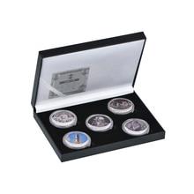 5 шт. Американский Проект Apollo 11 коллекционные монеты Аэрокосмическая инженерия вызов монета в память о первых ног печать на Луне