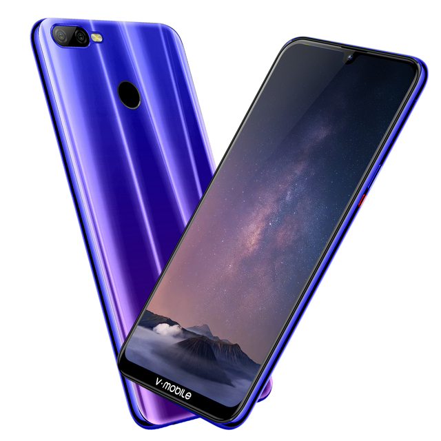 """4G LTE 4 Гб + 64 Гб TEENO Vmobile M9 мобильный телефон Android 8,1 6,26 """"HD полный экран 4800 мАч отпечатков пальцев ID смартфон сотовый телефон"""