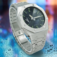 Für GA2100 Mod 3rd Generation Update Earless Metall Armband Uhr Band Lünette 316L Edelstahl Ersatz Zubehör