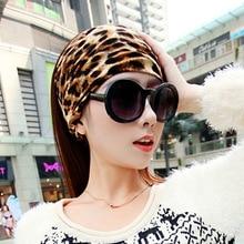 Headband Sports Leopard-Print Korean-Version Popular-Style Pure-Cotton European American
