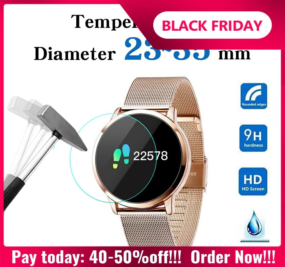 Full Size Round Watches Tempered Glass Screen Protector Film Diameter 23 24 25 26 27 28 29 30 31 32 33 34 35 Mm For Smart Watch