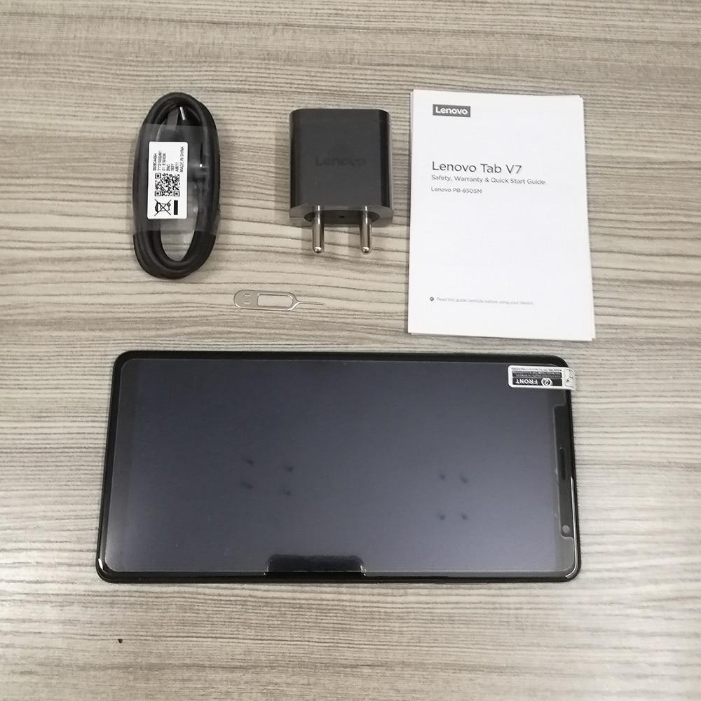 Image 5 - Lenovo Tab V7 PB 6505M PB 6505MC 2/3GB RAM 32/64GB ROM smartfon Snapdragon 450 octa core 5180mAh 6.9 cal Android 9.0 ciasto OTATelefony Komórkowe   -