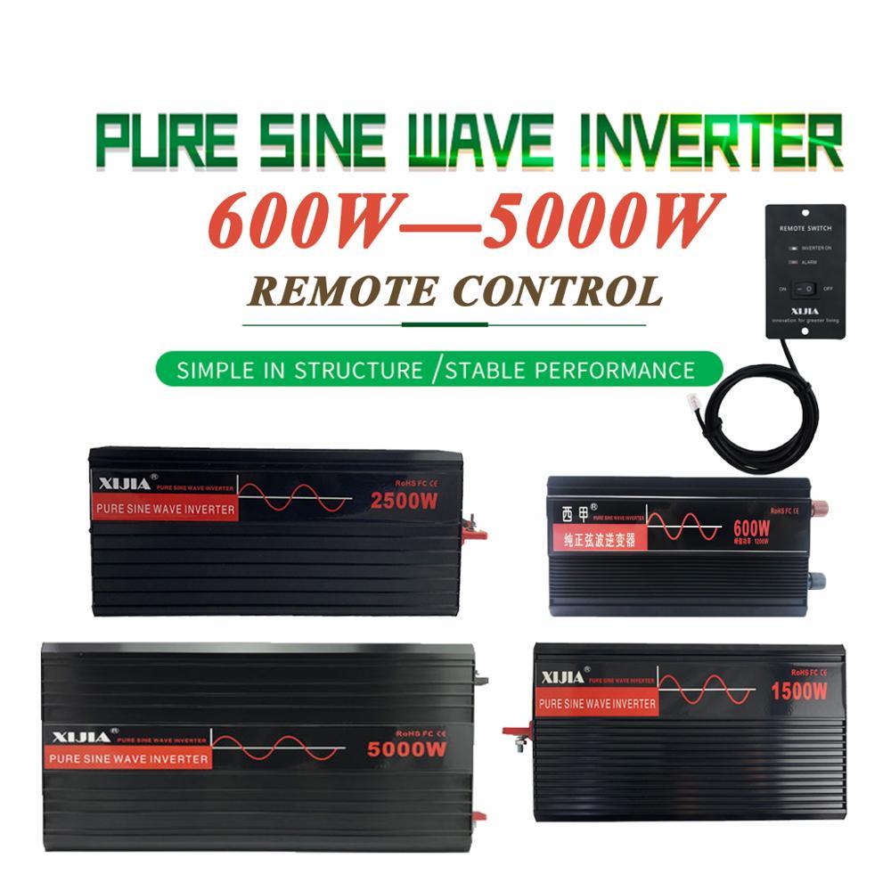 Zuivere Sinus Omvormer Omvormer DC12V/24 V/48 V/60 V/72 V Naar AC 110 V/120 V/220 V/230 V/240 V Converter Tool Voor Thuis/ Boot/Solar