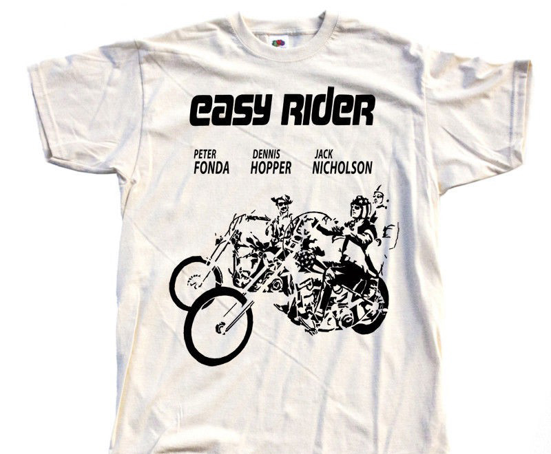 Short Sleeve Mens Formal Shirts Easy Rider V7 Movie Poster T Shirt All Sizes S To 5Xl Peter Fonda Dennis Hopper