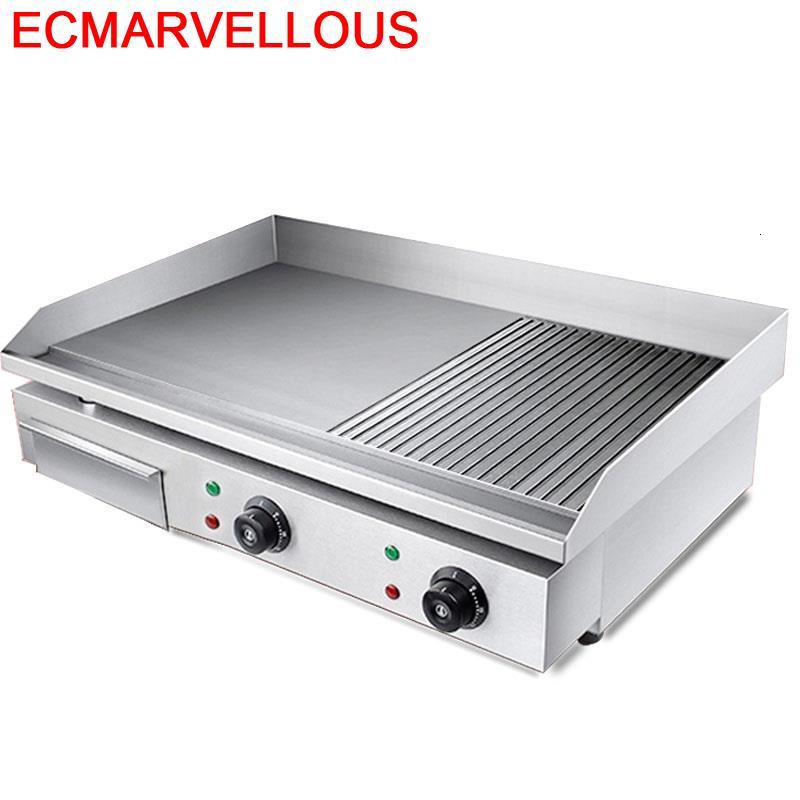 Gril Grelha Par Churrasco De Portable Churrasqueira Eletrica Parrilla Kebab Gril professionnel Barbacoa Électrique Teppanyaki