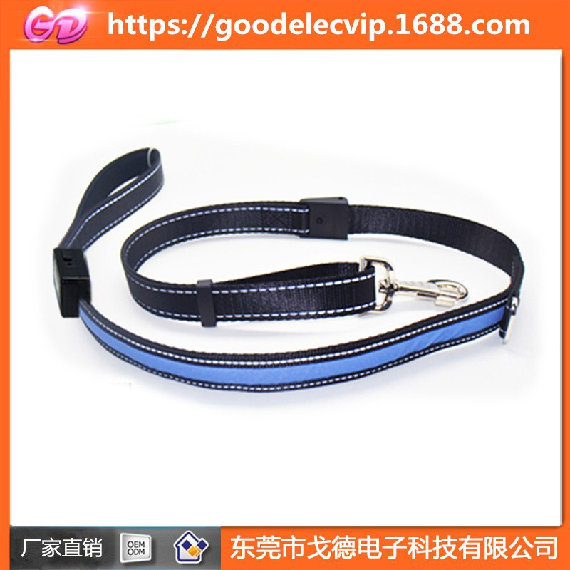 USB Fast Charge LED Shining Pet Traction Rope Dog Traction Belt