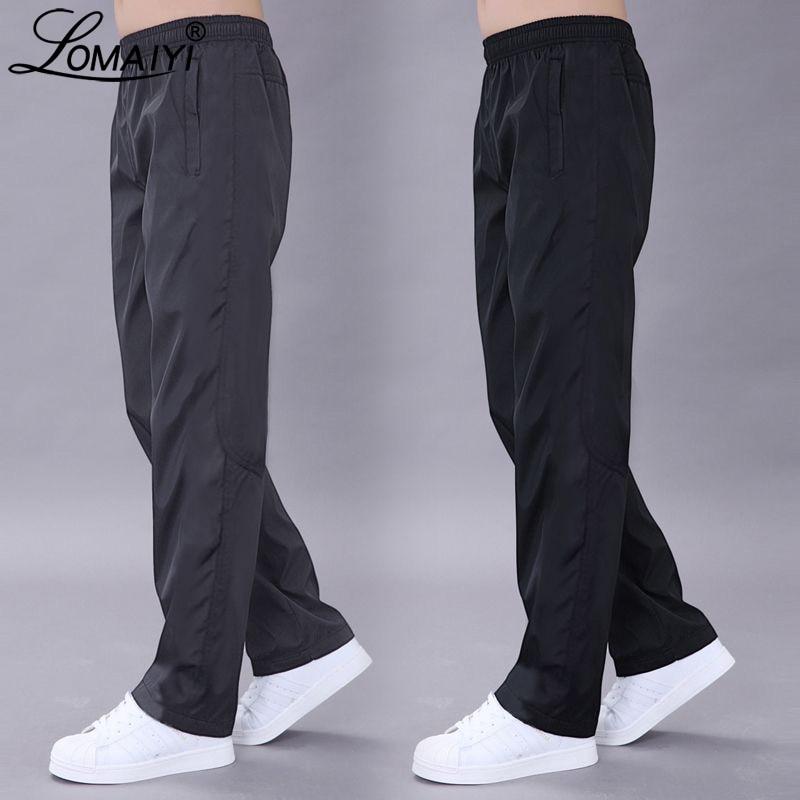 LOMAIYI Plus Size 6XL Men's Casual Pants Men Spring/Autumn Pants Mens Breathable Quick Dry Trousers Male Loose Black Pants AM411