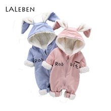 Laleben 2018 Baby rompers Hooded Long Sleeves Cotton Autumn