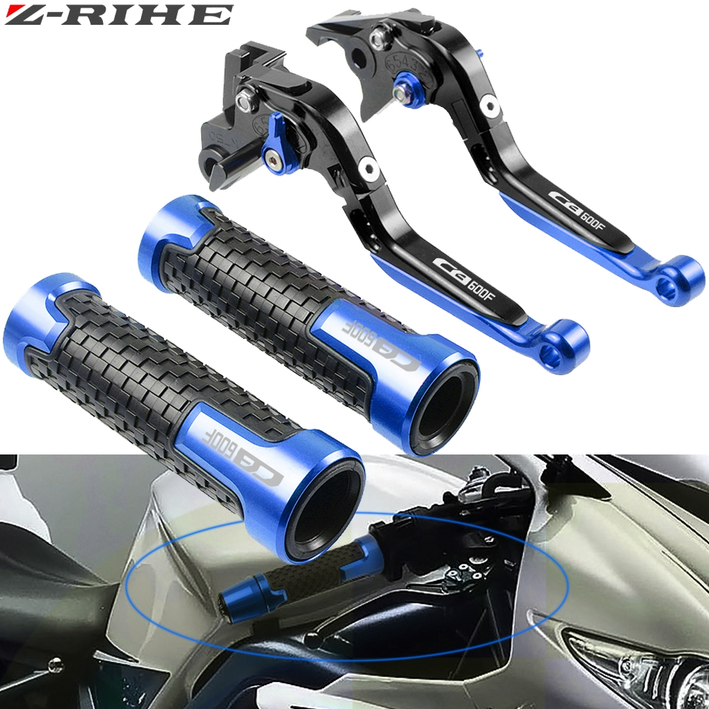 Motorcycle Brake Clutch Levers Handlebar grip Handle Grips For <font><b>Honda</b></font> CB600F CB <font><b>600</b></font> F <font><b>Hornet</b></font> 2007-2013 <font><b>2008</b></font> 2009 2010 2011 2012 image