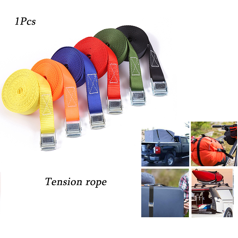1Pcs 2M Cargo Strap Buckle, Strap Traction Rope, Powerful Ratchet Belt, Used for Car, Motorcycle and Metal Buckle Luggage Bag