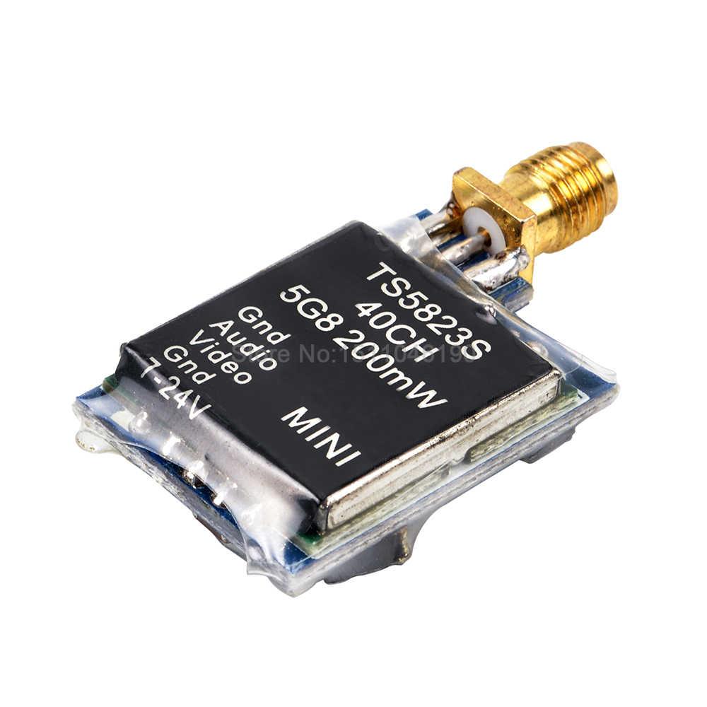TS5823S 40CH fpv tx 5.8 2.4ghz 48Ch 200 200mw の av ミニ送信モジュール (tx) TS5823S/ RP-SMA