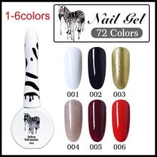 ELSA Zebra Gel Polish For Manicure Semi Permanent Varnish 72