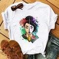 Женская летняя кавайная футболка мультяшный рисунок с принтом винтажные Ins harajuku O ulzzang col mode