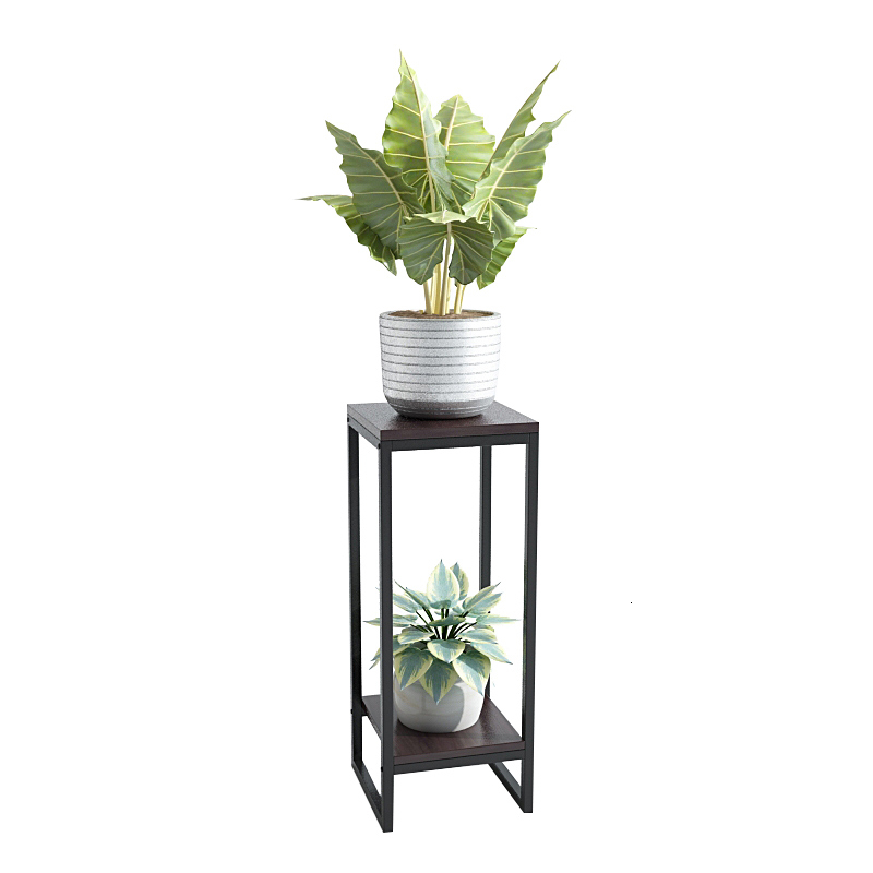 Iron Art Flower Airs Flowerpot Frame A Living Room Simplicity Landing Type Balcony Flower Rack Shelf Indoor Green Luo Shelves