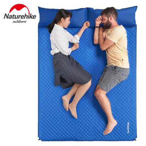 naturehike colchao inflavel com travesseiro esteira de praia almofada inflavel dupla almofada almofada ao ar