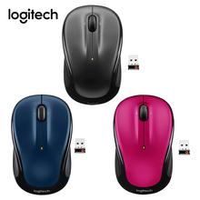 Logitech M325 3 przyciski bezprzewodowa mysz USB komputer 1000 DPI 2 4GHz Unifying Receiver ergonomiczna mysz optyczna do laptopa Office cheap CN (pochodzenie) 2 4 ghz wireless NONE 120g Opto-elektroniczny Palec Baterii Apr-11 Logitech M325 Mouse Prawo