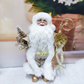 Christmas Santa Claus Beard Plush Dolls Standing Toy Decoration Gift for Kids Holiday New Year Navidad Home Ornaments Decor