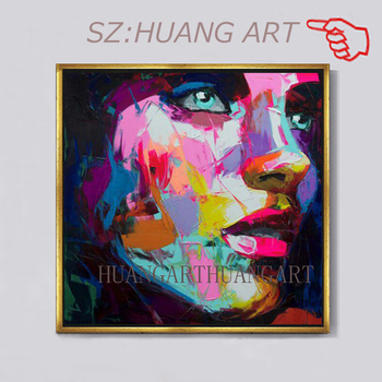 Francoise Nielly Palette knife portrait Face Oil painting Hand painted Character figure canvas wall Art picture for living room
