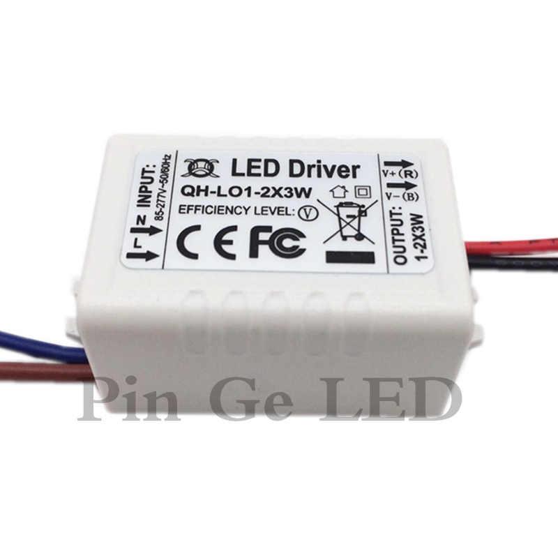 Corrente constante LED Driver 1-2x3W 600mA 3-7V 3W 6 W 600 mA 3 6 W Watt lâmpada COB Luz Transformador de Iluminação da fonte de Alimentação externa
