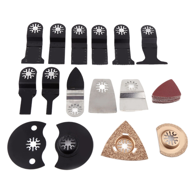 40 Pcs Oscillating Tool Saw Blade Accessories For Multifunction Electric Tool As Fein Power Tool Etc,Wood Metal Cutting,Home Diy