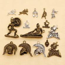 1 Piece Charm For Making Jewelry DIY Soldier War Horse Helmet HJ023(China)