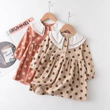 Party Outfit Clothing Girl Dress Spring Kids Casual for 2-7Y Long-Dot Autumn Sweet Lovely