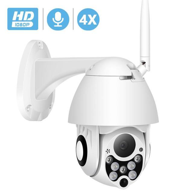 Besder 1080 720p ptz ipカメラ屋外スピードドームワイヤレスwifiセキュリティカメラパンチルト 4Xズームirネットワークcctv監視onvif