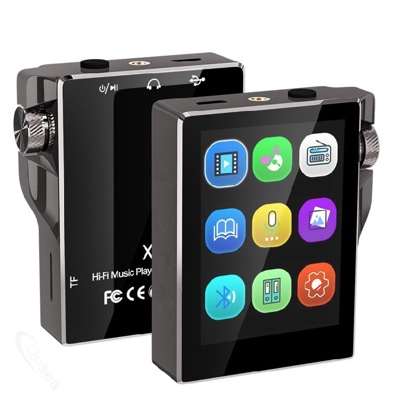 HiFi MP3 Player With Bluetooth Touch Screen FM Radio Portable Music Player Hi-Res Speaker Audio E-Book Recording Walkman