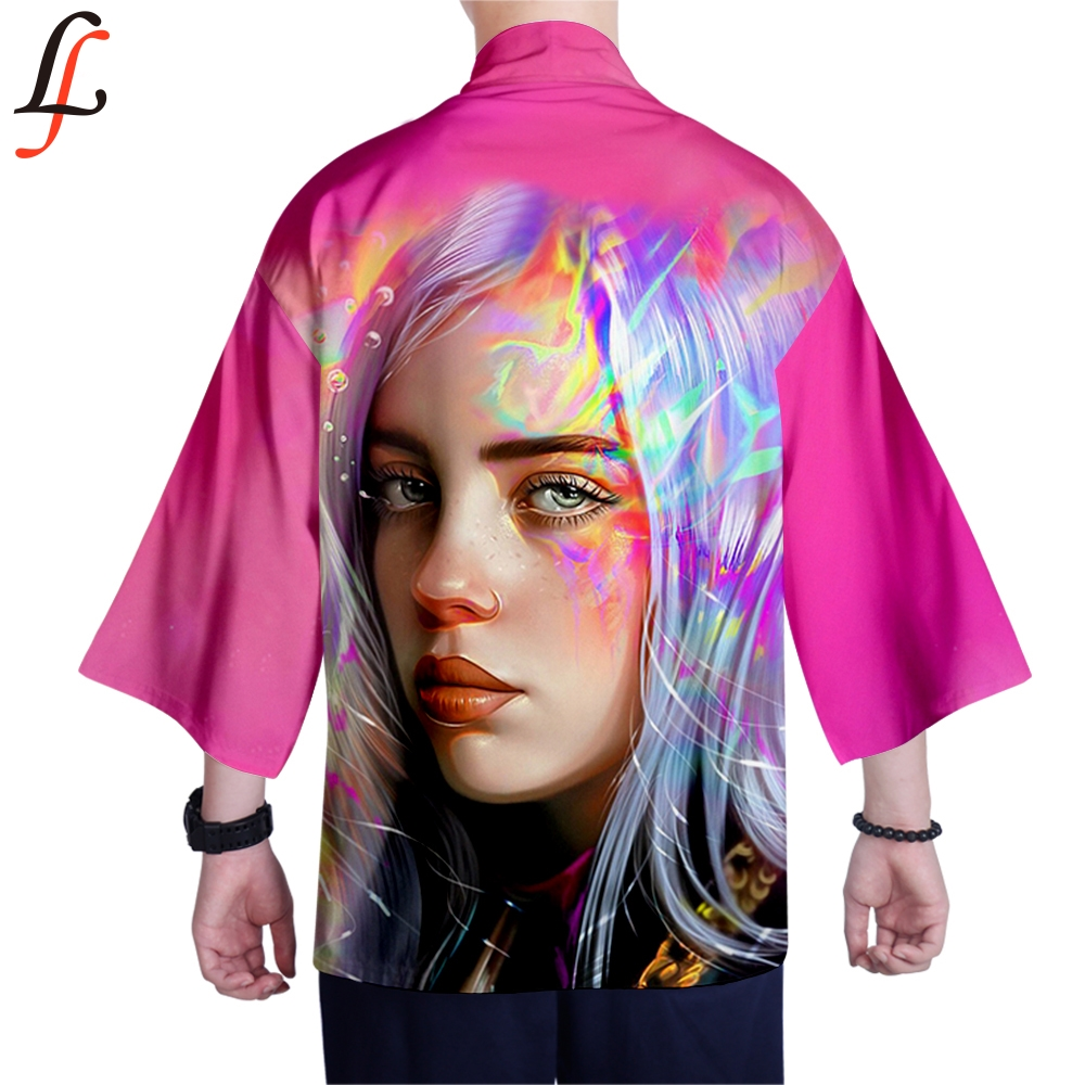 Billie Eilish Kimono Cardigan Men Japanese Male Yukata Men Haori Japanese Samurai Clothing Traditional Japanese Clothing