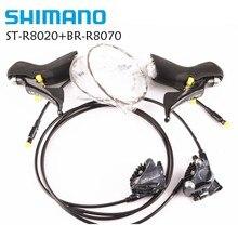 Shimano Ultegra R8020 הידראולי דיסק STI מנופי R8070 שטוח הר מחוגה 2x11 מהירות