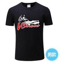Camiseta masculina de manga curta, camiseta de manga curta para motocicleta v-strom dl 650 camiseta masculina