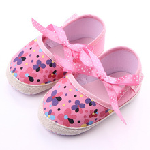 Baby Toddler Shoes Footwear Flowers First-Walkers Spring Girls Children Bow Autumn 12cm