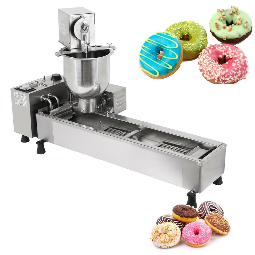(Free Shipping) Electric Donuts Fryer Commercial Doughnut Maker Automatic Donut Frying Machine 110V