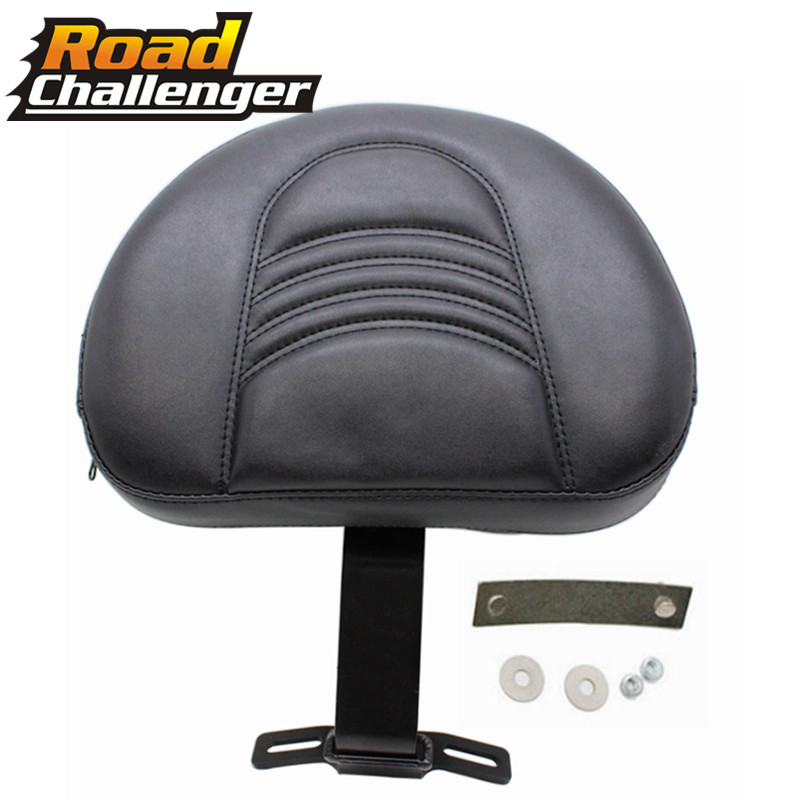 Black Motorcycle Detachable Plug-in Adjustable Driver Backrest Kit For Harley Fatboy Heritage Softail 2007-2017 12 13 14 15 16