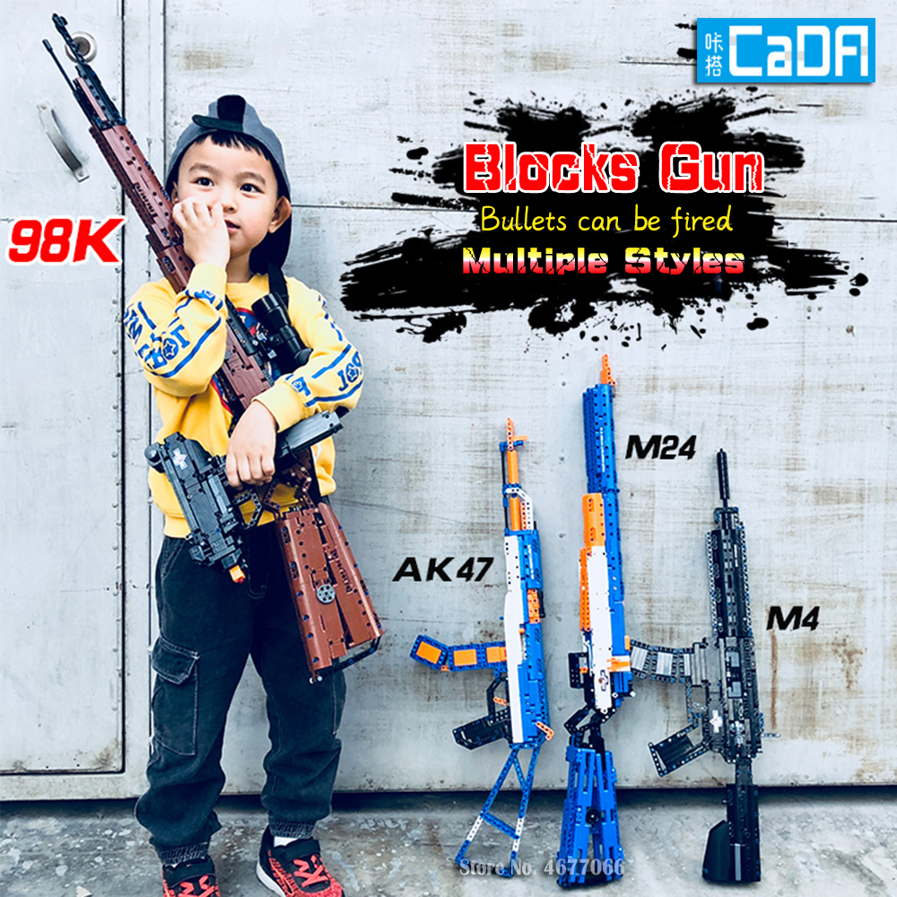 Legoed gun model building blocks p90 toy gun toy brick ak47 toy gun weapon legoed technic bricks lepin gun toys for boy