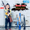 Legoed gun model building blocks p90 toy gun toy brick ak47 toy gun weapon legoed technic bricks lepin gun toys for boy