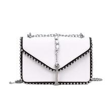 2019 Fashion Female Square Bag New PU Leather Women Handbag Rivet Shoulder Messenger bags Fashion Simple Messenger Bag XZ-229. rivet decorated clamshell female messenger shoulder bag