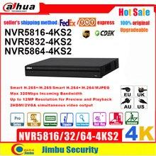 Dahua 4K NVR 16CH 32CH 64CH NVR5816 4KS2 NVR5832 4KS2 NVR5864 4KS2 2U H.265 וידאו מקליט תיל ממעיד חדירה חום המפה
