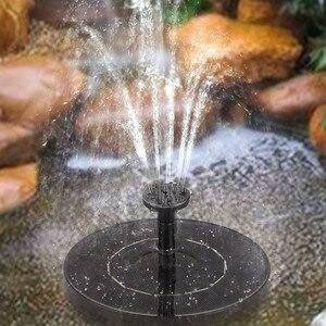 Fuente Solar de Baño de aves, fuente de agua flotante para jardín, piscina, decoración para estanque, fuente de energía Solar, bomba de agua, triangulación de envíos