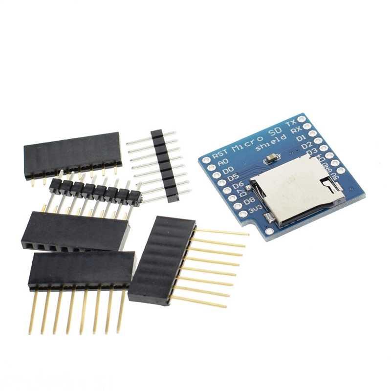 Micro-sd tarjeta Shield Mini TF ESP8266 Compatible SD módulo inalámbrico para Arduino para WeMos D1 Mini