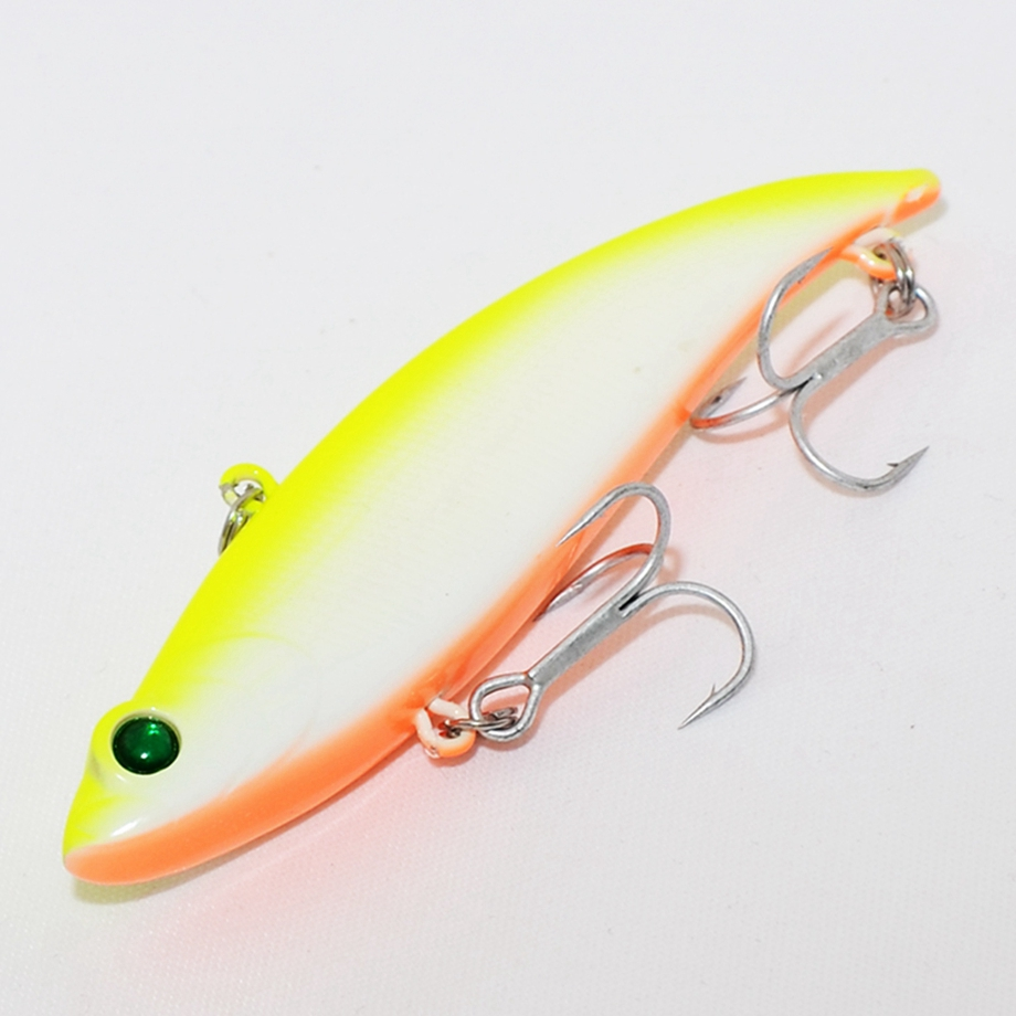 1 Pcs VIB Fishing Lure Sinking Plastic Hard Bait Saltwater Winter Ice Fishing Accessories 70mm 19g BKK Hooks Vibration Wobblers in Fishing Lures from Sports Entertainment