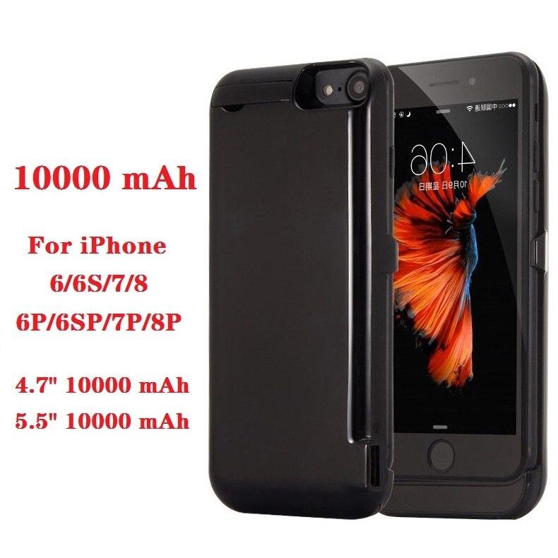 ¡Oferta! Funda de cargador de batería de 10000mah para iPhone 6 6s 7 plus, funda para cargador de batería para iPhone 6 6s 7 8 Plus, funda para cargador de Banco de energía