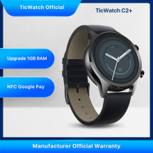 TicWatch C2 Plus actualizado 1GB Ram usar OS deportes Smartwatch GPS de seguimiento de Fitness IP68 impermeable NFC en Google, versión Global(China)