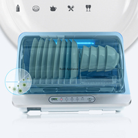 Multifunction Disinfection Cabinet Electronic Dish Dryer 304 Stainless Steel Kitchen Shelf Dish Drain Rack Cutlery Storage Box