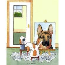 Diy картина по номерам собака self portrait комплект маслом