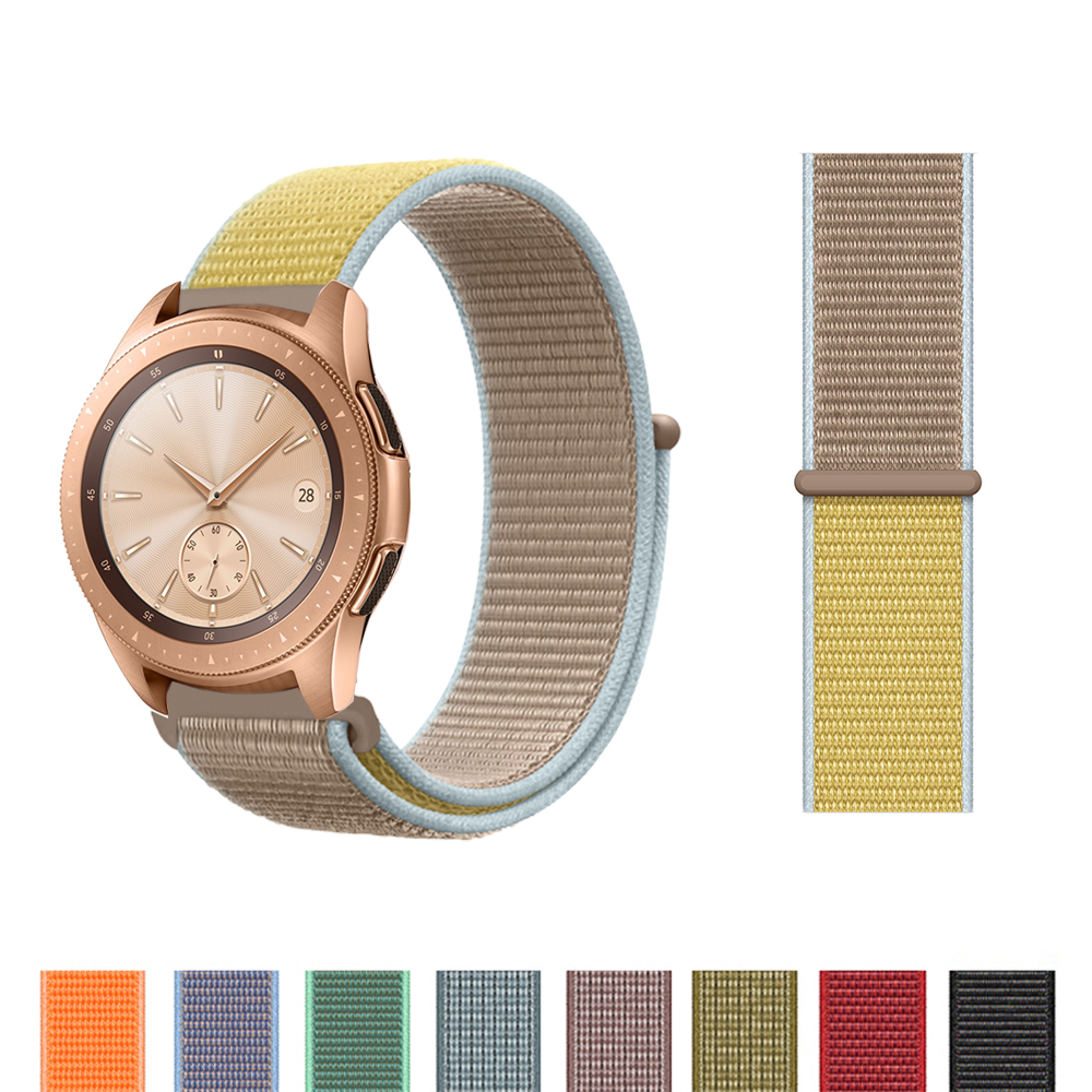 Nylon Strap 20mm For Galaxy Watch 42mm 46mm Nylon Weave Bracelet For Samsung Galaxy Watch 42mm Velcor Band For Galaxy Watch 42mm
